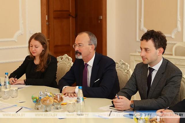 Турчин встретился с главой отдела ОЭСР по работе со странами Евразии