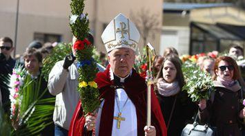 Католики празднуют Вход Господень в Иерусалим