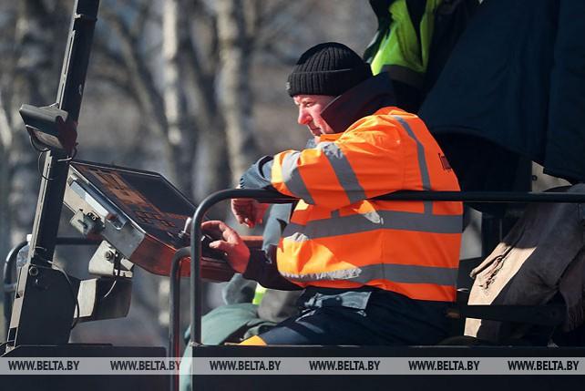 В Минске заменяют покрытие на транспортных коридорах II Европейских игр