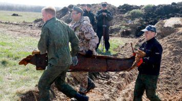 Фрагменты танка Т-70 раскопали в Быховском районе