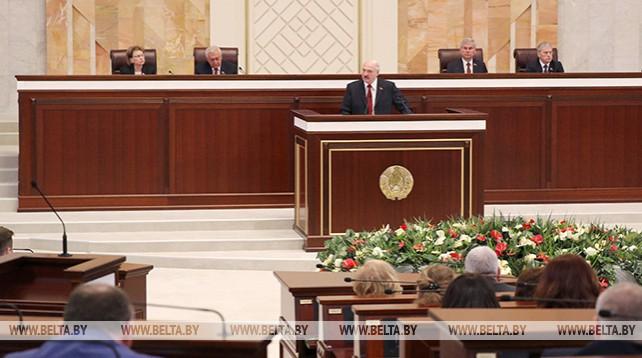 Лукашенко обратился с ежегодным Посланием к народу и парламенту