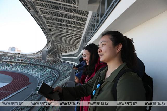 """Китайские журналисты посетили стадион """"Динамо"""""""