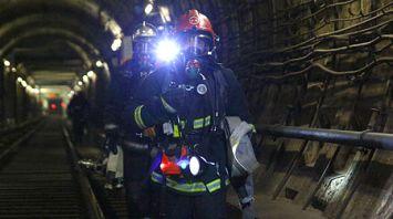 Спасатели провели ночное учение в метро