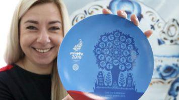 Товары с символикой II Европейских игр представили в Гомеле
