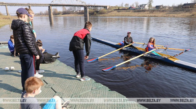 Юных спортсменов по гребным видам спорта готовят в Полоцке