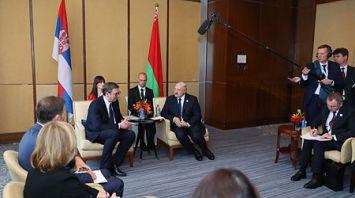 Лукашенко встретился с Президентом Сербии Александром Вучичем