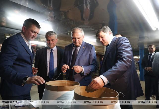 """Румас посетил ОАО """"Полоцк-Стекловолокно"""""""