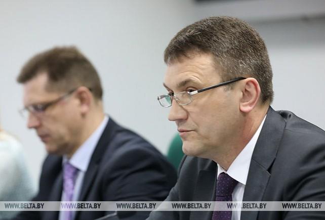 Пресс-конференция министра связи и информатизации Константина Шульгана прошла в БЕЛТА