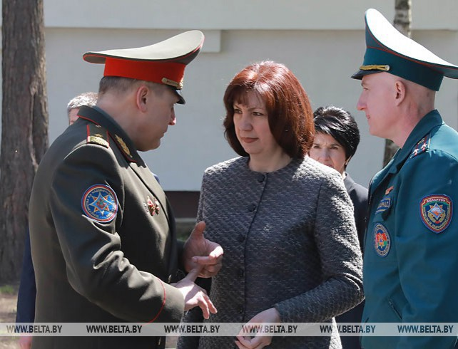 Кочанова посетила лицей МЧС