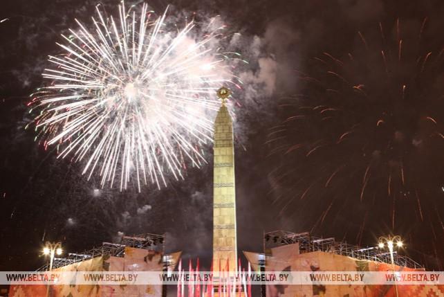 Салютом завершились праздничные мероприятия, посвященные Дню Победы