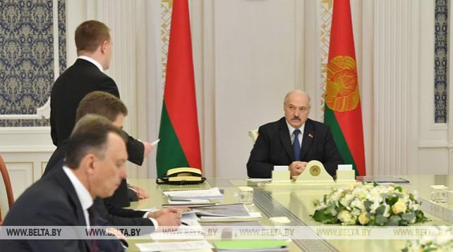 Лукашенко заслушал доклад по вопросу строительства Национального выставочного центра