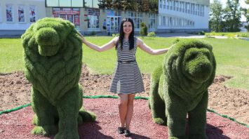 Две фигуры львов появились в Витебске