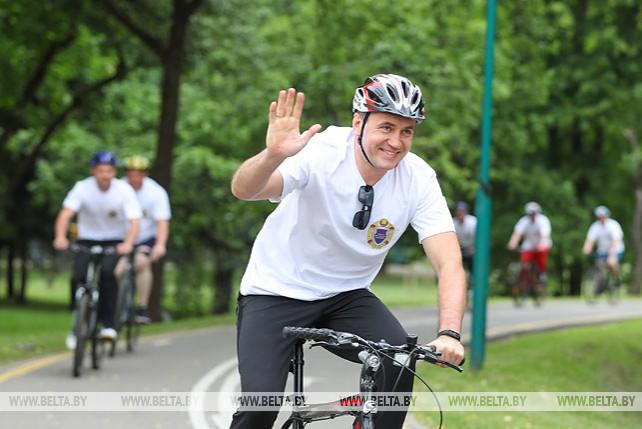 Велопробег к 100-летию образования органов госконтроля прошел в Минске