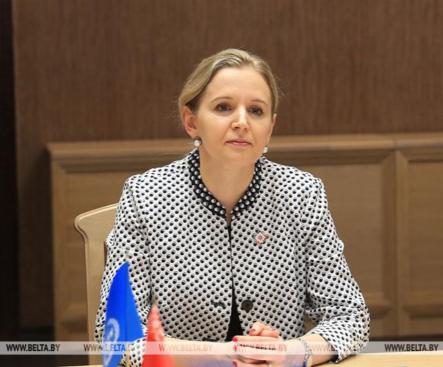 Щеткина встретилась с постоянным представителем ПРООН в Беларуси