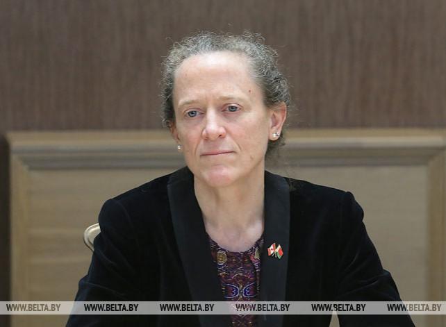 Щеткина встретилась с послом Канады в Беларуси