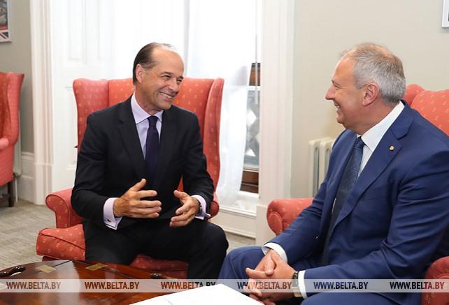 Румас встретился с государственным министром по торговой политике Великобритании
