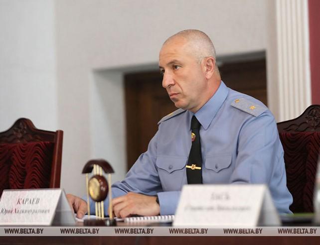 Зась представил коллективу МВД нового министра