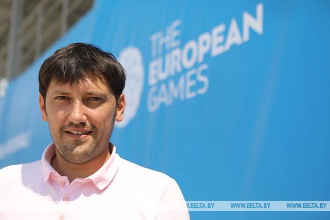 Тренировка сборной Беларуси по пляжному футболу в преддверии II Европейских игр