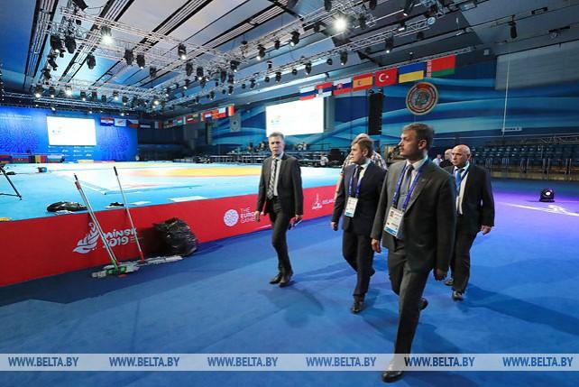 Петришенко посетил Дворец спорта