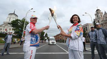 """Эстафета """"Пламя мира"""" прибыла в Минск"""