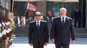 Церемония официальной встречи Президента Египта прошла во Дворце Независимости