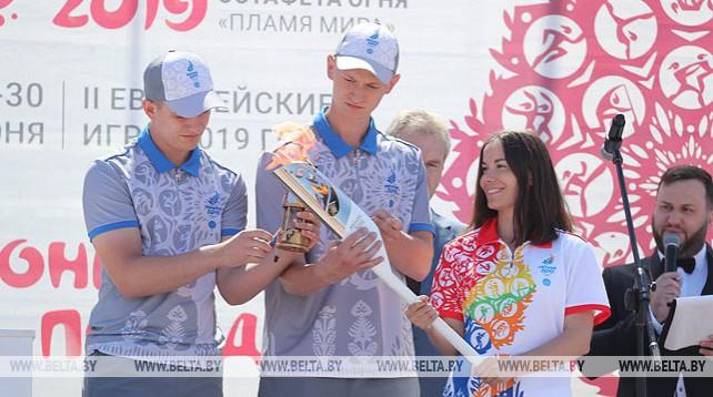 """Эстафета """"Пламя мира"""" продолжает свой путь в Минске"""