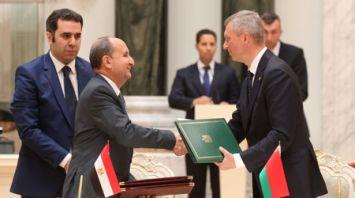 Беларусь и Египет подписали дорожную карту развития сотрудничества на 2019-2020 годы