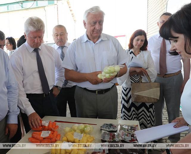 """Мясникович ознакомился с производством новых видов растениеводческой продукции в хозяйстве """"Фортуна Агро"""""""