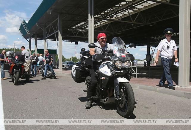 Группа болельщиков из Польши отправилась на II Европейские игры на мотоциклах