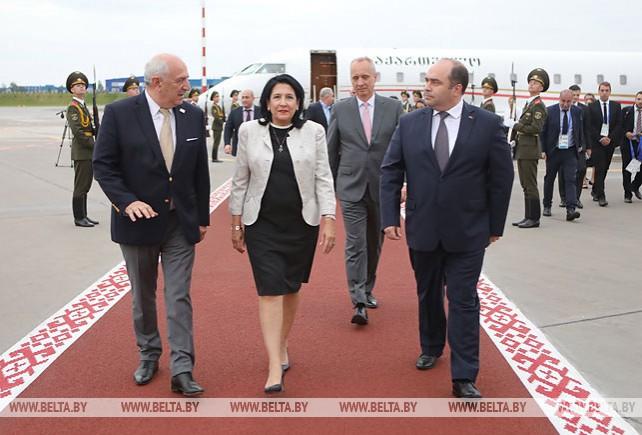 Президент Грузии прибыла в Беларусь
