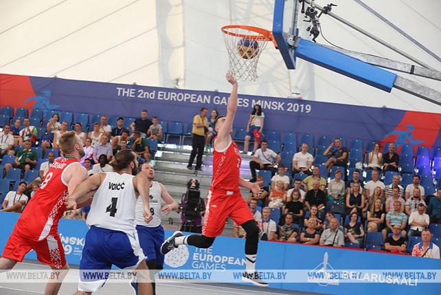 Белорусы победили словенцев на старте турнира по баскетболу 3х3 на II Европейских играх