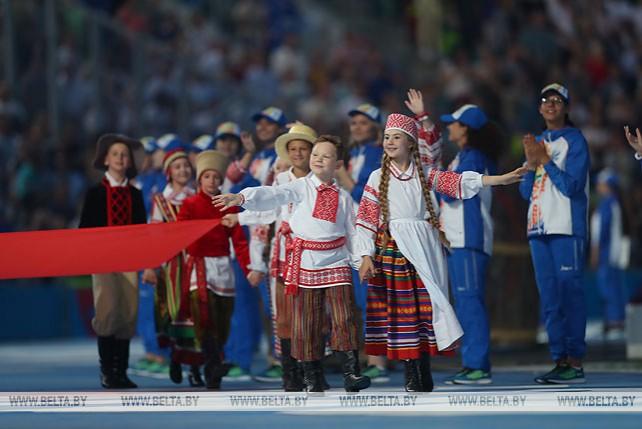"Церемония открытия II Европейских игр на минском стадионе ""Динамо"""