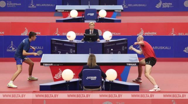 Соревнования по настольному теннису проходят на II Европейских играх