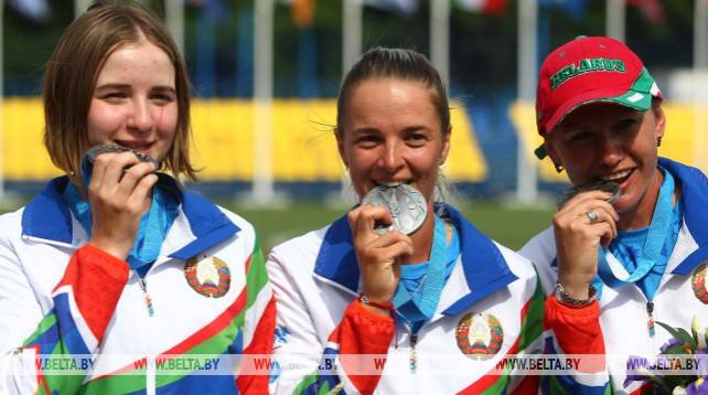 Команда лучниц завоевала для Беларуси вторую медаль II Европейских игр, став серебряным призером