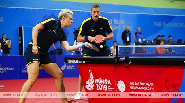 Второй день соревнований по настольному теннису на II Европейских играх