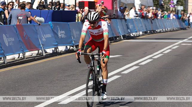 Белорус Александр Рябушенко стал четвертым в групповой шоссейной велогонке Европейских игр