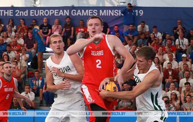 Белорусы проиграли литовцам на турнире по баскетболу 3х3 II Европейских игр