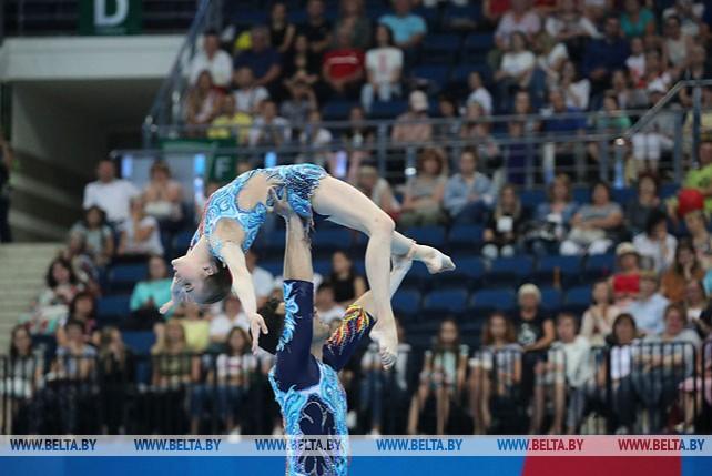 Белорусские акробаты Артур Беляков и Ольга Мельник выиграли бронзу в многоборье на Европейских играх