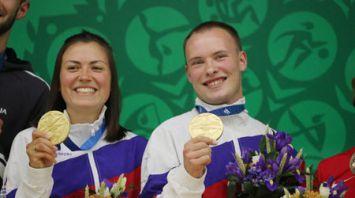 Белорусские стрелки Евгений Зайчик и Екатерина Крученок заняли 4-е место на Европейских играх