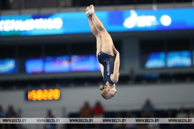 Соревнования по прыжкам на батуте начались на II Европейских играх