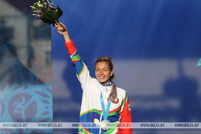 В главной фан-зоне II Европейских игр состоялась церемония награждения легкоатлетов