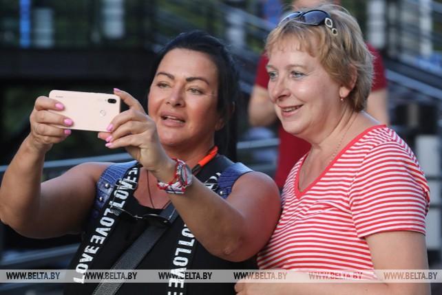Минчане и гости Европейских игр в столице Беларуси