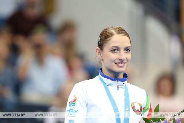 Белоруска Анна Гончарова стала бронзовым призером в прыжках на батуте на II Европейских играх