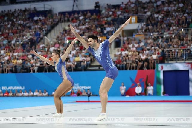 Белорусы не попали в призеры турнира по спортивной аэробике на II Европейских играх