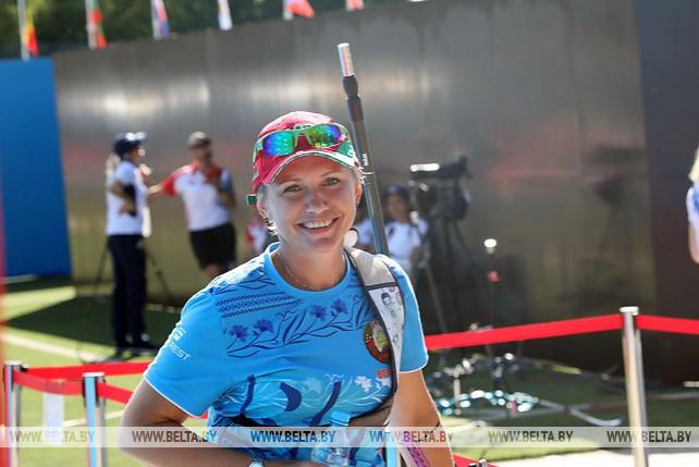 Соревнования 1/32 и 1/8 финала по стрельбе из классического лука среди женщин проходят на II Европейских играх