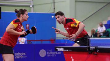 Турнир по настольному теннису продолжается на II Европейских играх
