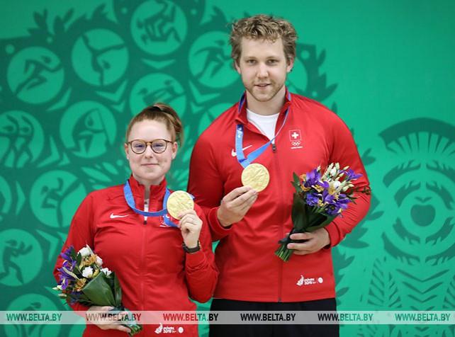 Швейцарский дуэт завоевал золото II Европейских игр в пулевой стрельбе