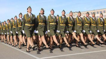 Тренировка пеших расчетов парада ко Дню Независимости прошла в Минске