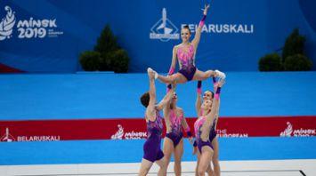 Белорусы заняли 8-е место в групповых упражнениях по аэробике на II Европейских играх