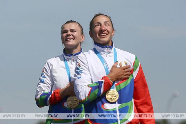 Марина Литвинчук и Ольга Худенко победили в гребле на байдарке на 500 м на II Европейских играх